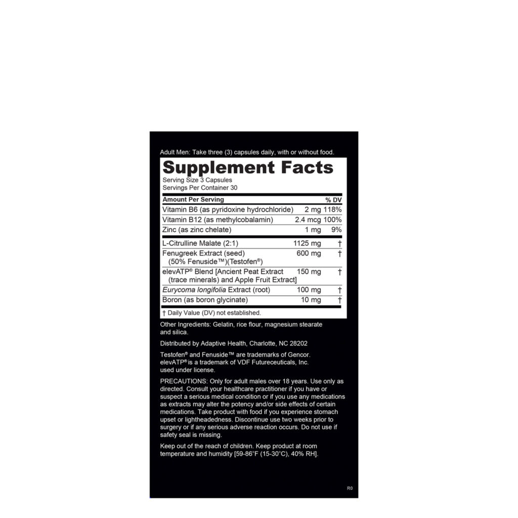Nugenix Supplement Facts