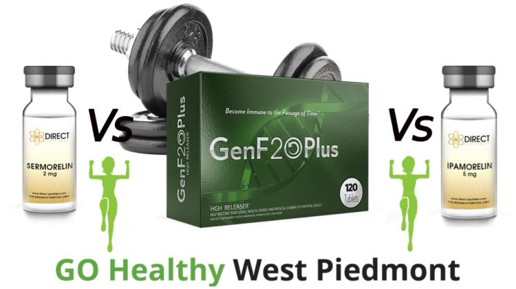 GenF20 Plus vs Sermorelin vs Ipamorelin Comparison Guide by Go Healthy West Piedmont